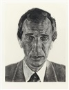 Chuck Close, Portrait of A. Glimcher