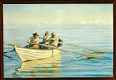 Michael Peter Ancher, Fishermen in a rowing boat at sea, in front fisherman and rescuer Ole Svendsen