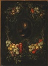 Style Of Joris van Son, Portrait of a nobleman fringed with a garland of fruit