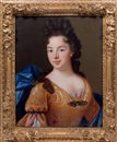 French School (17), Portrait de femme à la robe orange