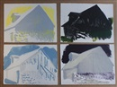 Wolf Kahn, Vermont barn variations: four color silkscreens