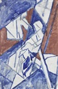 David Bomberg, Study for Bargees (dbl-sided)