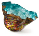 Dale Chihuly, Italian Blue Macchia with Midnight Blue Lip Wrap