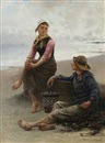 August Vilhelm Nikolaus Hagborg, Conversation by the Sea