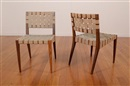 Jens Risom, Model 666 wsp chairs (pair)