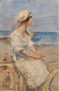 Isaac Israels, A lady at the beach