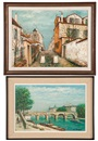 Alois Lecoque, Street scene and canal scene (2 works)