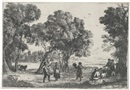 Claude Lorrain, The Country Dance, Small Plate