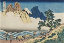 Katsushika Hokusai, Minobu-gawa ura Fuji (The back of Fuji from the Minobu River) (from the series Fugaku sanjurokkei [The Thirty-Six views of Fuji]) (oban yoko-e)