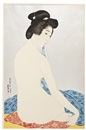 Goyo Hashiguchi, Yokugo no onna, (Woman after a Bath), depicting a seated nude