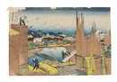 Katsushika Hokusai, Honjo Tatekawa (Tatekawa in Honjo) (from series: Fugaku sanjurokkei (Thirty-six views of Mount Fuji)) (oban yoko-e)