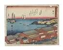 Ando Hiroshige, Set of views of stations on the Tokaido from the series Tokaido gojusan tsugi (48 works) (chuban yoko-e)