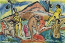 Francis Newton Souza, Untitled (Bathers)