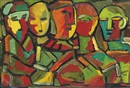 Francis Newton Souza, Untitled (Abstract Figures)