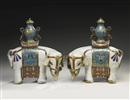 Anonymous-Chinese (Qing Dynasty), A pair of caparisoned elephants
