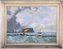 John Wilson Carmichael, The approaching storm: Sailing off the British coast