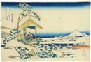Katsushika Hokusai, Koishikawa yuki no ashita (Snowy Morning at Koishikawa) (from Fugaku sanju-rokkei, Thirty-Six Views of Mt Fuji)