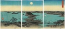 Ando Hiroshige, Buyo Kanazawa hassho yakei (A night view of the eight great places of Kanazawa, Buyo)(3 works)