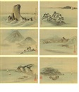 Ando Hiroshige, The Six views at Famous Placas in Edo (album w/6 works)
