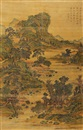 Attributed To Wen Zhengming, 春岚积翠 (Landscape)