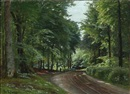Christian Peder Mørch Zacho, A forest road