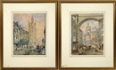 Thomas H. Hair, Views of old Newcastle - Lower dean street from the side, and St. Nicholas Church from the groat market (pair)