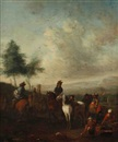 Follower Of Pieter Wouwerman, La leçon d'équitation