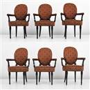 Maison Jansen, Medallion arm chairs (set of 6)