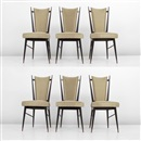 Guglielmo Ulrich, Dining chairs (set of 6)