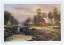 Thomas Kinkade, Sunset at Riverbend Farm