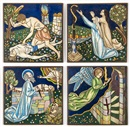 Arthur Joseph Gaskin, The Death of Abel, The Brazen Serpent, The Sacrifice of Isaac, and The Angel of the Passover (4 works)