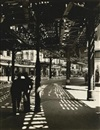 Berenice Abbott, El second and Third Avenue Lines: Bowery and Division Street