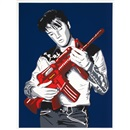 Mr. Brainwash, Don't Be Cruel (Blue Background/Red Gun Edition)