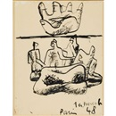 Le Corbusier, Upturned Hand and Figures