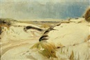 Michael Peter Ancher, View from the beach with gravel through the dunes