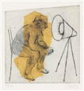 William Kentridge, Untitled (The Artist Sitting), from: The HMV Set