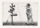 William Kentridge, Man with Megaphone Cluster