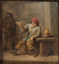 Attributed To David Teniers the Younger, Un fumeur de pipe