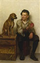 John George Brown, Teasing the pup