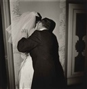Diane Arbus, Groom Kissing His Bride, N.Y.C