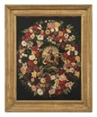 Follower Of Jan Brueghel the Younger, Madonna im Blumenkranz mit Elisabeth und Johannes