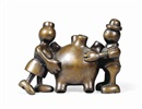 Tom Otterness, Man and woman with anatomical heart