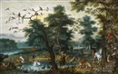Jan Brueghel the Younger, Paradieslandschaft mit Sündenfall