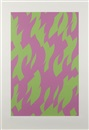 Bridget Riley, Magenta and green
