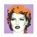Banksy, Kate Moss (Purple and Orange)
