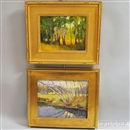 Steven Allrich, Birches in a Meadow and Birches by a Stream (2 works)