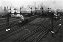 Berenice Abbott, Hoboken Railroad Yards Looking Towards Manhattan, New Jersey