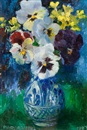 Mary Nicol Neill Armour, Pansies in a blue and white vase