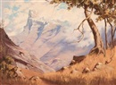Willem Hermanus Coetzer, View of snow capped mountains