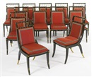 Maison Jansen, Directoire style chairs (set of 12)